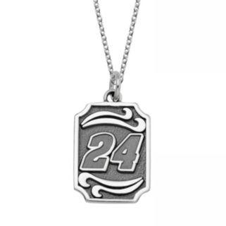 "Insignia Collection NASCAR Jeff Gordon Stainless Steel ""24"" Pendant"