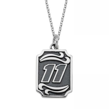 "Insignia Collection NASCAR Denny Hamlin Stainless Steel ""11"" Pendant"