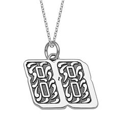 Insignia Collection NASCAR Dale Earnhardt Jr. '88' Stainless Steel Pendant Necklace