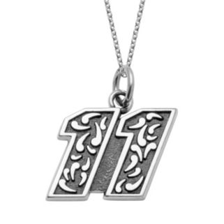 "Insignia Collection NASCAR Denny Hamlin ""11"" Stainless Steel Pendant Necklace"