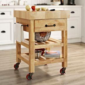 Crosley Furniture Marston Butcher Block Kitchen Cart