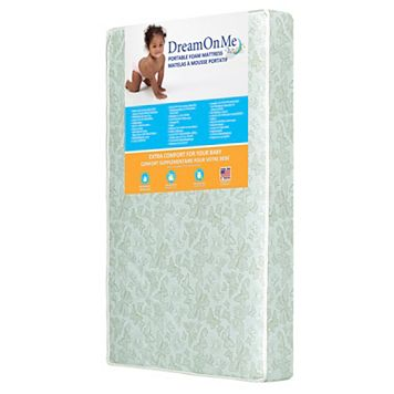 Dream On Me Two-Sided Portable Crib Foam Mattress