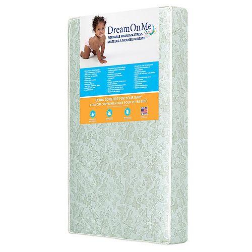 Dream On Me Two-Sided Portable Crib Foam Mattress