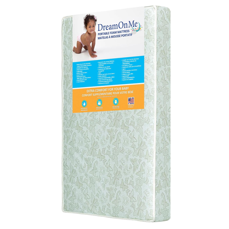 Dream On Me 5u201d Two Sided Mini/Portable Crib Foam Mattress