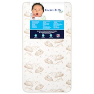 Dream On Me Twilight 80-Coil Spring Toddler Crib Mattress