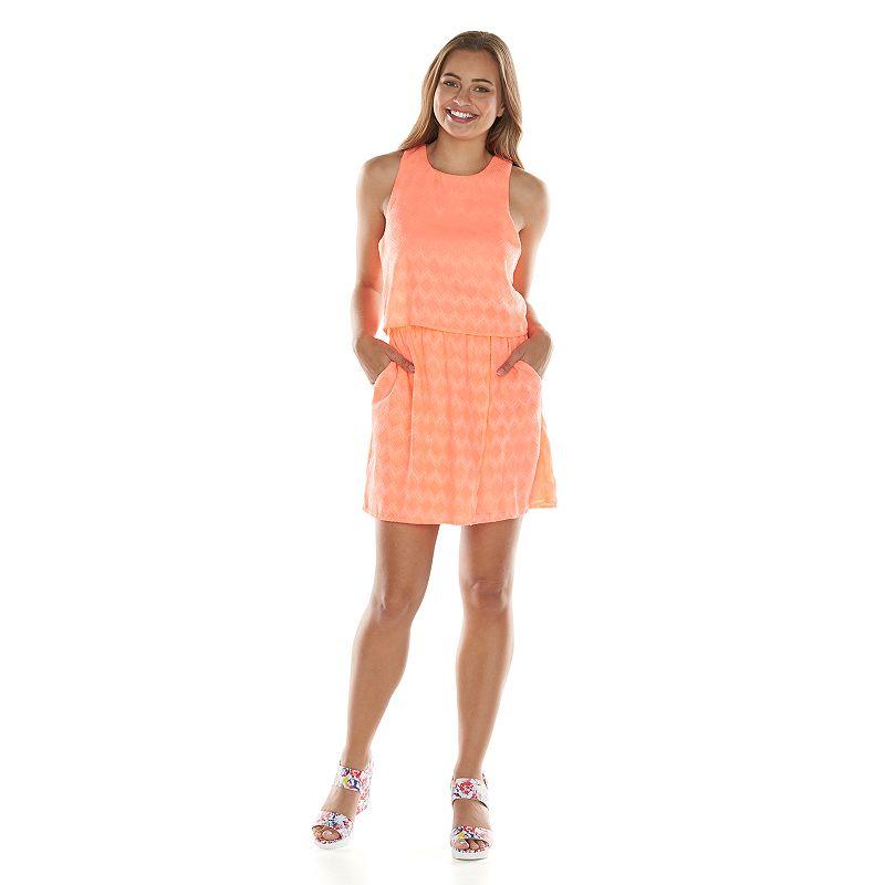 Blue Chevron Dresses For Juniors Trixxi Chevron Dress Juniors