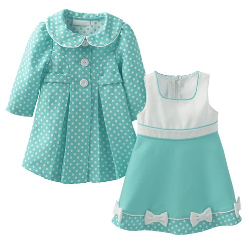 5eb0b206f Bonnie Jean Polka-Dot Jacket & Dress Set - Baby Girl
