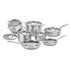 Cuisinart Multiclad Pro Tri-Ply Stainless 12pc Cookware Set