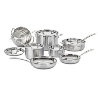 Cuisinart 12-pc. MultiClad Stainless Steel Cookware Set