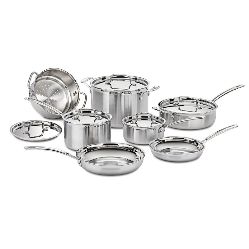 Cuisinart 12-pc. MultiClad Stainless Steel Cookware Set, Silver