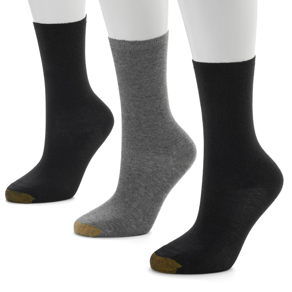 GOLDTOE 3-pk. Non-Binding Crew Socks - Women