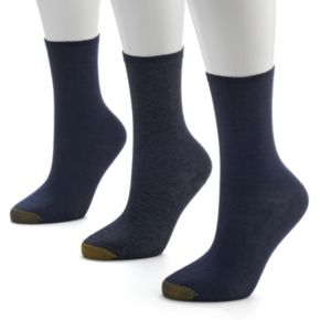 GOLDTOE 3-pk. Non-Binding Crew Socks - Women