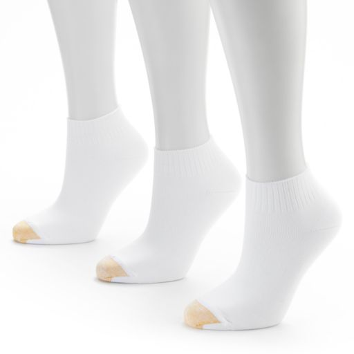 GOLDTOE 3-pk. Ribbed Quarter Socks - Women