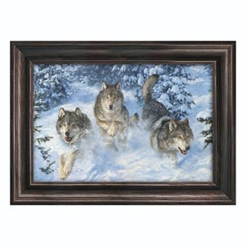 Reflective Art ''Winter Realm'' Framed Canvas Wall Art