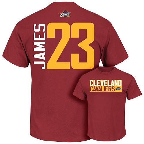 huge selection of 9f31f 6ea03 Majestic Cleveland Cavaliers LeBron James Custom Tee - Boys 8-20