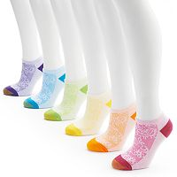 GOLDTOE 6-pk. Floral Sport No-Show Socks - Women