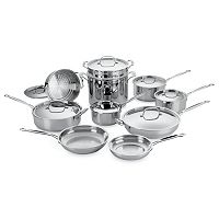 Cuisinart 17 pc Chef's Classic Stainless Steel Cookware Set