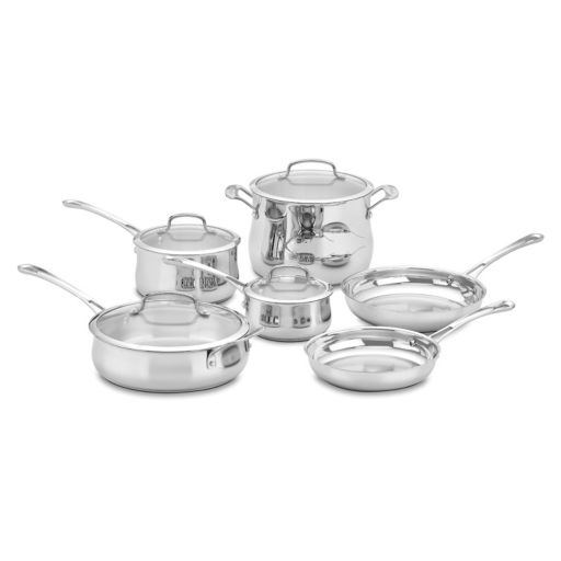 Cuisinart 10-pc. Contour Stainless Steel Cookware Set