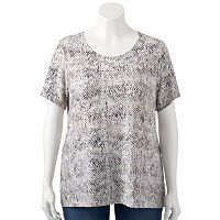 Plus Size Croft & Barrow® Textured Scoopneck Top