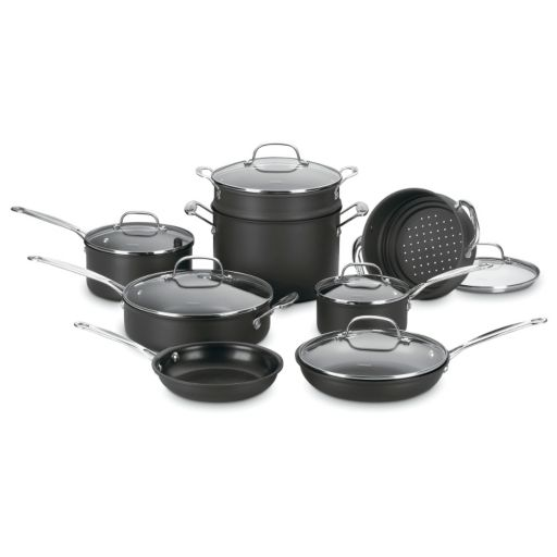 Cuisinart 14-pc. Chef's Classic Hard-Anodized Nonstick Cookware Set