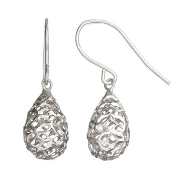Sterling Silver Openwork Drop Earrings