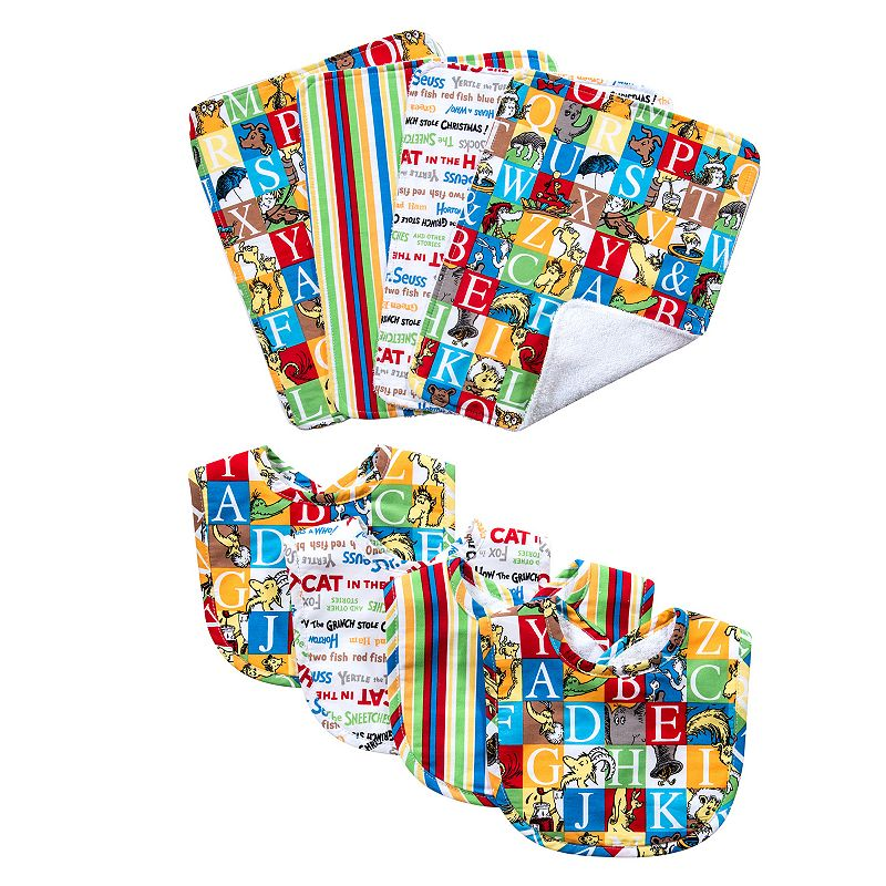 Dr. Seuss Alphabet Seuss Bouquet Bib & Burp Cloth Set by Trend Lab ()