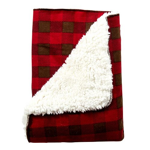 Trend Lab Northwoods Plaid Flannel Faux Shearling