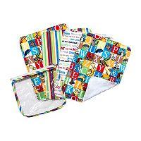 Dr. Seuss Alphabet Seuss Pouch & Burp Cloth Set by Trend Lab