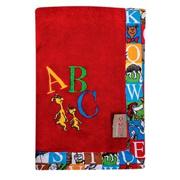 Dr. Seuss Alphabet Seuss Fleece Receiving Blanket by Trend Lab