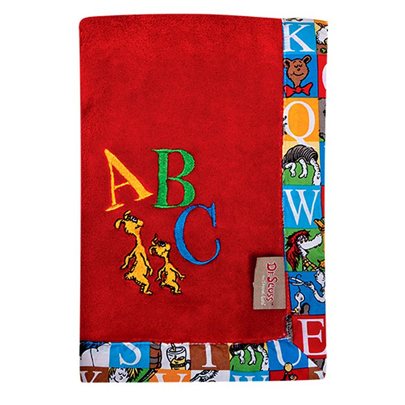 Dr. Seuss Alphabet Seuss Fleece Receiving Blanket by Trend Lab ()