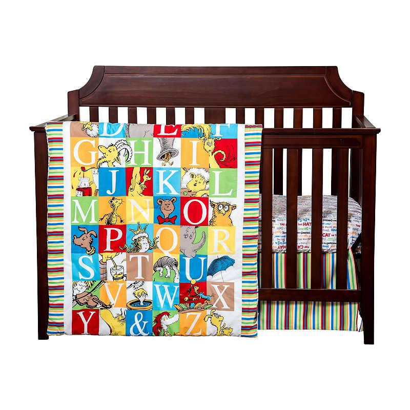 Dr. Seuss Alphabet Seuss 3-pc. Crib Bedding Set by Trend Lab ()