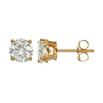 Forever Brilliant 1 5/8 Carat T.W. Lab-Created Moissanite 14k Gold Solitaire Earrings
