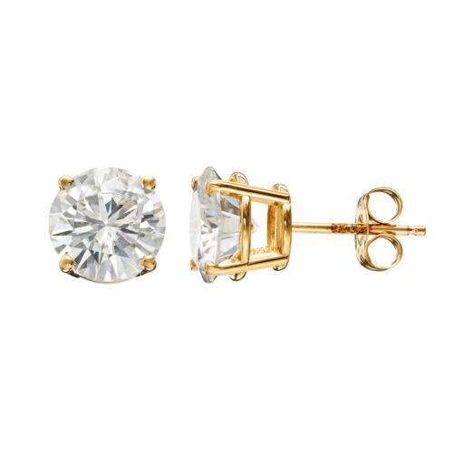 Forever Brilliant 3 Carat T.W. Lab-Created Moissanite 14k Gold Solitaire Earrings
