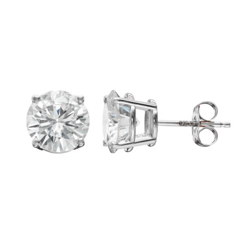Forever Brilliant 3 Carat T.W. Lab-Created Moissanite 14k White Gold Solitaire Earrings