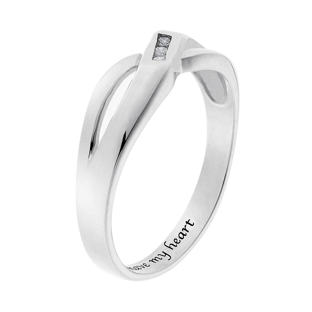 Diamond Accent Sterling Silver Openwork Wedding Ring
