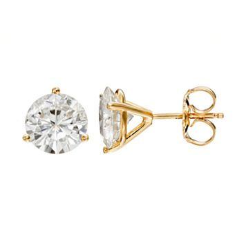 Forever Brilliant 3 3/4 Carat T.W. Lab-Created Moissanite 14k Gold Solitaire Earrings
