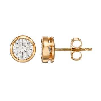 Forever Brilliant 1 Carat T.W. Lab-Created Moissanite 14k Gold Solitaire Earrings