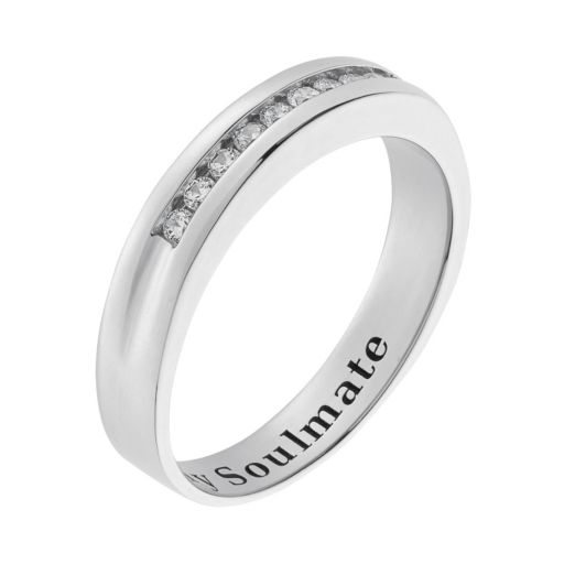 Cubic Zirconia Sterling Silver Wedding Ring