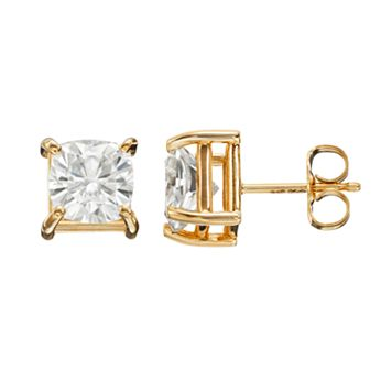 Forever Brilliant 2 5/8 Carat T.W. Lab-Created Moissanite 14k Gold Solitaire Earrings