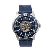 Invicta Men's Specialty Leather Mechanical Skeleton Watch