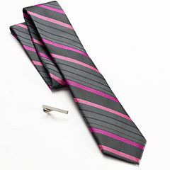 Apt. 9® Abaco Striped Skinny Tie & Tie Bar Set - Men