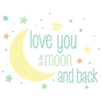 WallPops Love You to the Moon Wall Decals