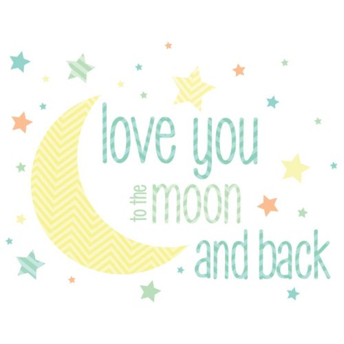 WallPops Love You to the Moon ...