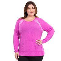 Plus Size Marika Raglan Scoopneck Yoga Tunic