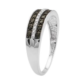 1/4 Carat T.W. Black and White Diamond 10k White Gold Ring