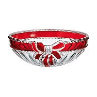 Mikasa Ruby Ribbon Crystal Bowl