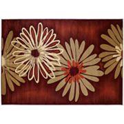 United Weavers Contours Dahlia Terra Cotta Floral Rug