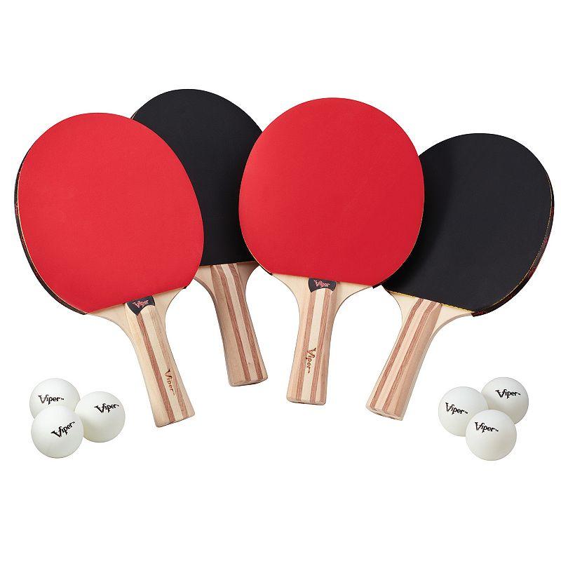 Viper Table Tennis Paddle 4 Player Set