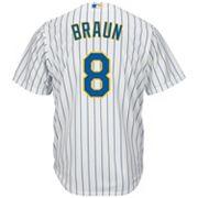 Men's Majestic Milwaukee Brewers Ryan Braun Cool Base Replica MLB Jersey