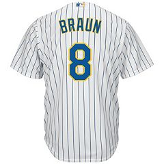 Men's Majestic Milwaukee Brewers Ryan Braun Cool Base Replica MLB Jersey